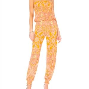 Free People Thinking of You Tubes Top Jumpsuit M